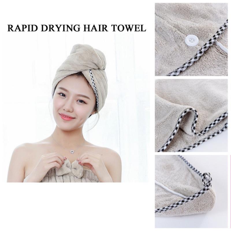 Магия сухих волос Cap микрофибры волос Быстро сохнет Сушилка для полотенец Ванна Wrap Hat Cap Quick Dry Тюрбан