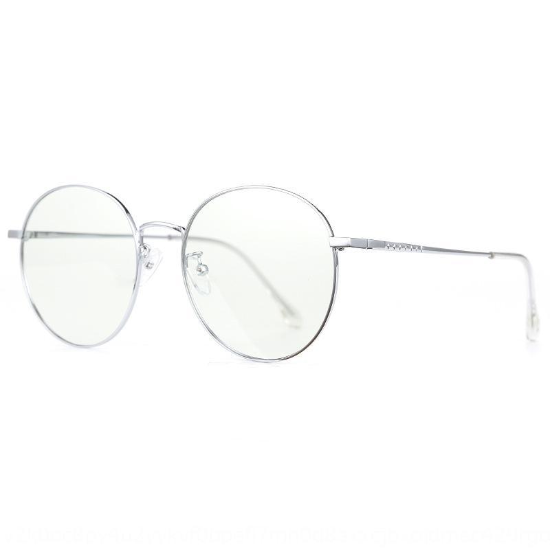 cambia colore anti-azzurro di vetro normali della rete rosso stile cornice rotonda miopia delle donne di SS7Vu Nuova miopia donne struttura di vetro 8512