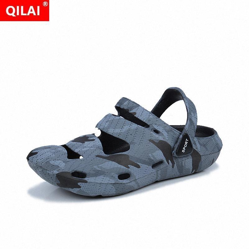 Deslizadores dos homens 2020 modelos casal buraco sapatos da moda para homens e mulheres sapatos jardim grandes sandálias dos homens do tamanho de água simples GEWB #