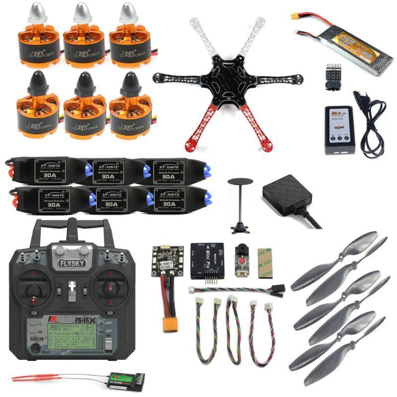 Pro DIY F450 F550 Drone Full Kit 2.4G 10CH RC HexacoPter Quadcopter Radiolink Mini Pix M8N GPS Pixhawk Высота HOLD HOLD УДАЛЕНИЕ FPV