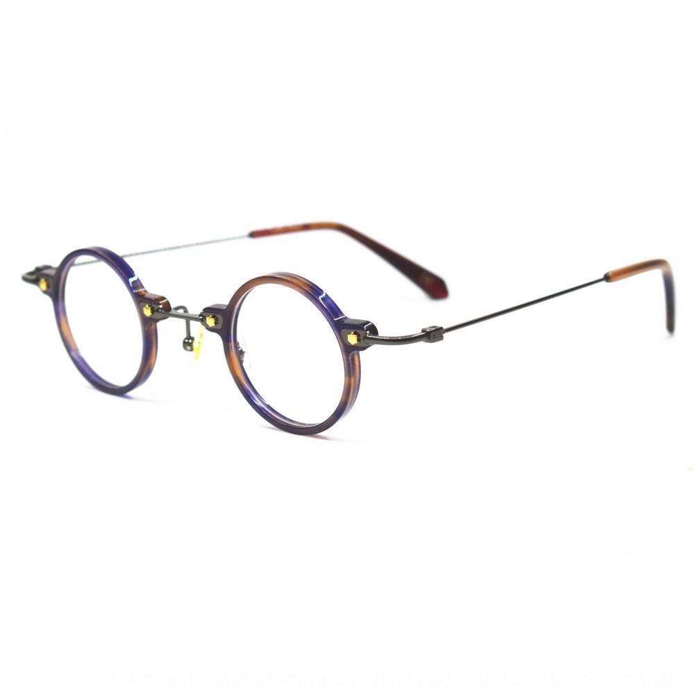 M73Gf Shenzhen hochwertige Platte kleiner runder Metallrohrrahmen Rahmen Republik China Stil ungeradeer Handmade Brillen Brillen handgefertigt