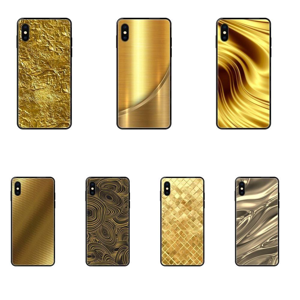 Para iPhone 11 12 Pro 5 5S SE 5C 6 Gold 6S 7 8 X XR XS Além disso Max Design Metallic Foil cores Impresso macio TPU 2017 New Arrival