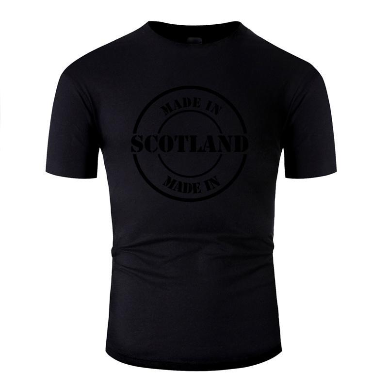 Stampato Made In Scozia T shirt da uomo a vita bassa Donne magliette rotonda Collare Short-Sleeve