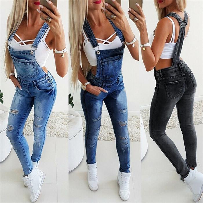Pantolon Kaykay Kadınlar Suspenders Pantolon Seksi Skinny Jeans Bayan Delik Y tulumlar Moda İnce Kadınlar Tasarımcı Kalem