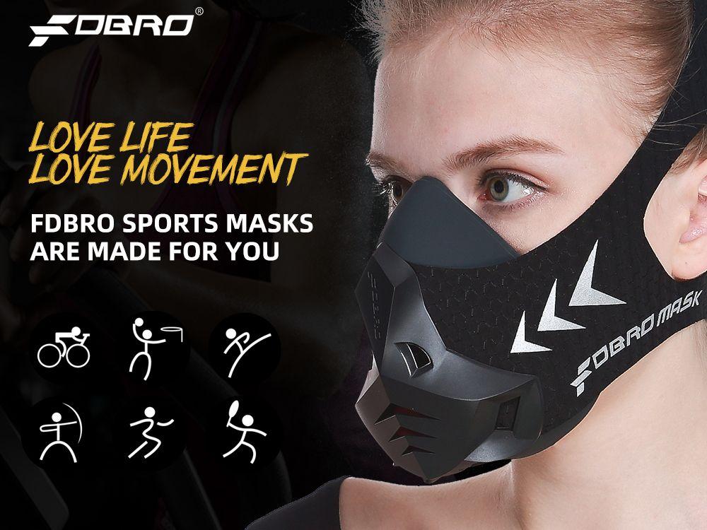 Spor Egzersiz Bisiklet Yükseklik Yüksek İrtifa Eğitim Klima Spor Maskeler 3.0 Running Spor Fitness Maske Fdbro