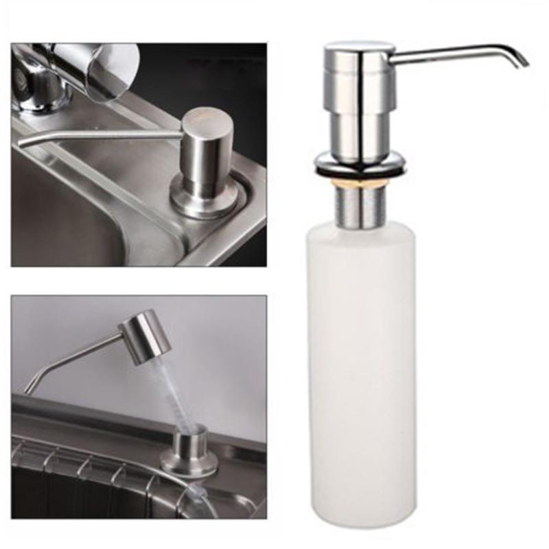 Casa de banho Cozinha sabonete Líquido para o dissipador de detergente líquido Lavar a mão sabonete Líquido Bombas de cozinha de aço inoxidável Cabeça # 30