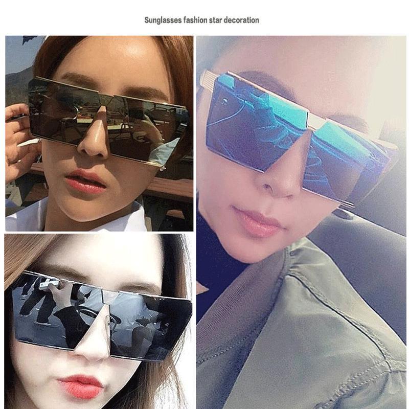 Gafas de sol de las mujeres 2020 marca con espejo cuadrado fotocromáticos de gran tamaño gafas de sol de moda Gafas de sol Mujer