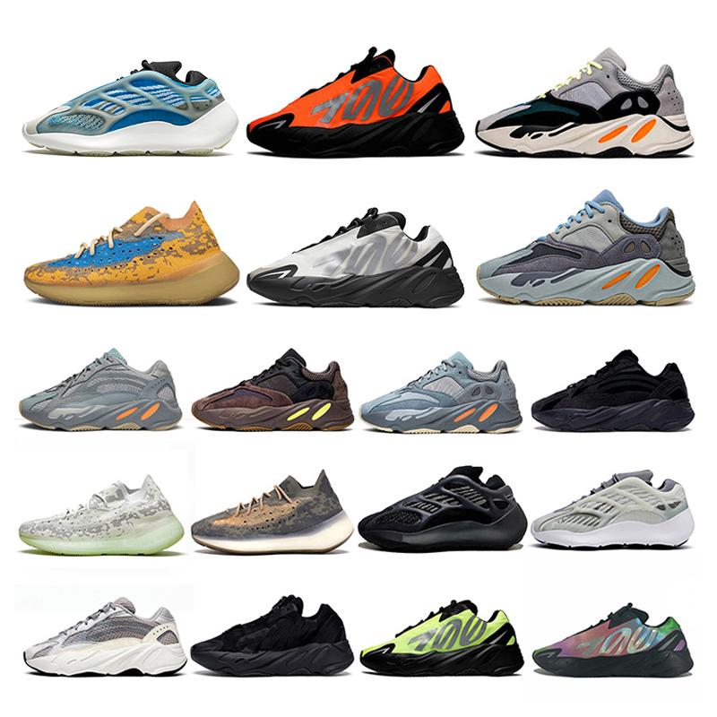 2020 New Kanye West Stock x 700 Boost Running Shoes Azael Alvah Alien Mist Runner 700 v2 Carbon Blue Vanta Luxury Designer Sneakers Trainers