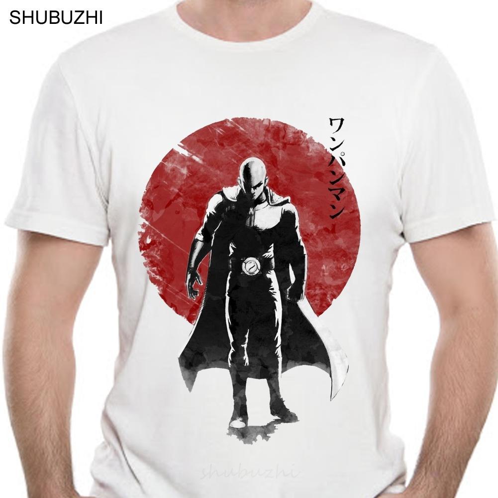 Un solo hombre Puñetazo la camiseta del diseño fresco animado camiseta de los hombres de Saitama Sensei camiseta Ok Impreso Casual Tamaño Tee Euro