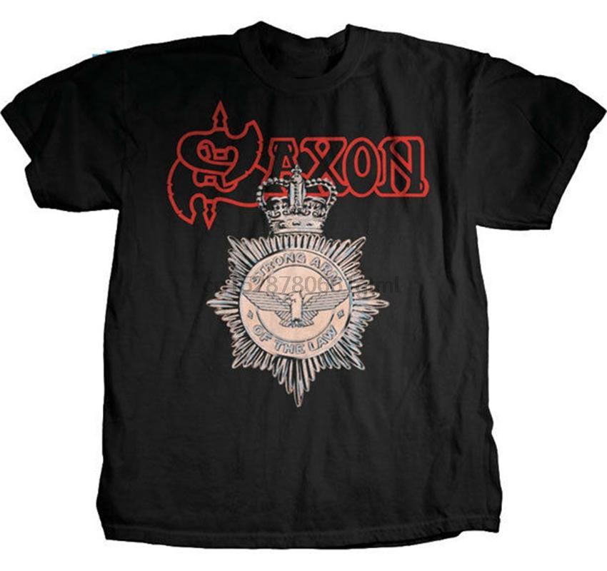 Saxon - Strong Arm de la loi - T-shirt S-M-L-Xl New Salut Fidelity Merch T-shirt à la mode Streetwear