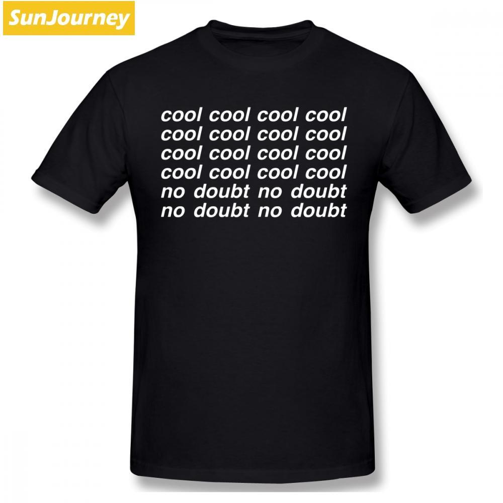 enfriar no hay duda de hombres divertidos B99 tv humor camiseta cuello redondo de algodón, más el tamaño de manga corta camisa de los hombres