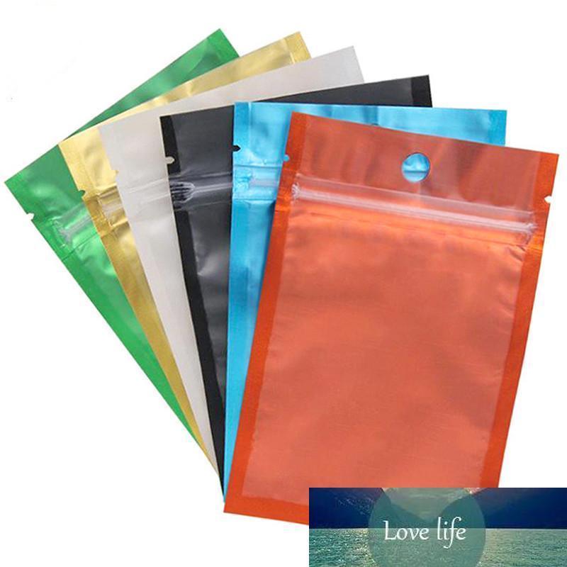 Renkli Alüminyum Folyo Çanta Açılıp kapanabilir Çanta Ambalaj Çanta Bir Tarafı Şeffaf Arka Plastik Dayanıklı Torbalar kokla Zip