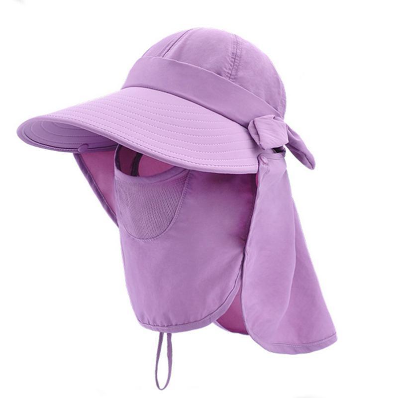Mode féminine chapeaux de soleil Pliable Chapeau 2020 Summer Beach New Caps réglable sunproof large Brim Chapeaux Visor avec amovible