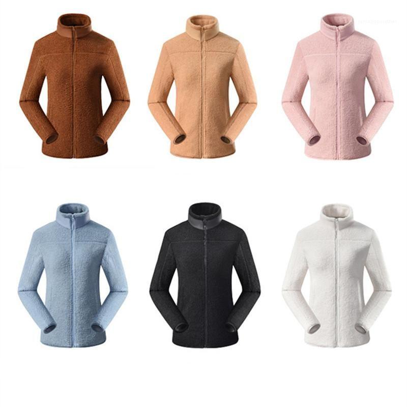 Thick Long Sleeve Casual Outerwear Man Fleece Jackets Outerwear Fashion Warm Double-sided Polar Fleece Coats Winter Designer Male Lapel Neck