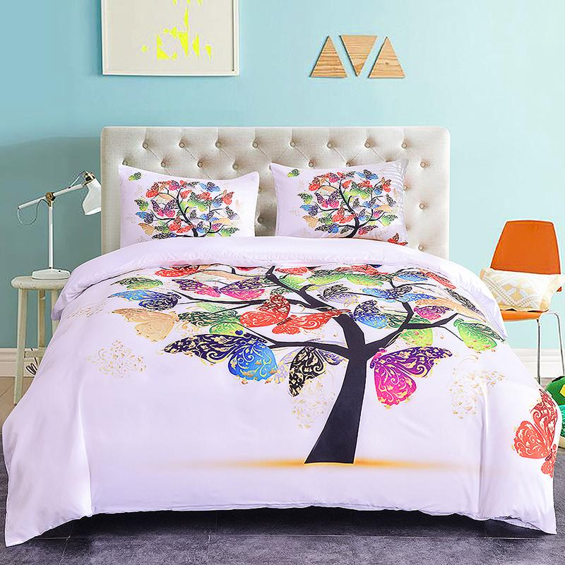 Butterfly Pattern Bedding Sets Bed Sheet Duvet Cover And Pillowcase Home Textiles Bedclothes 3d Digital Printing Running Horse