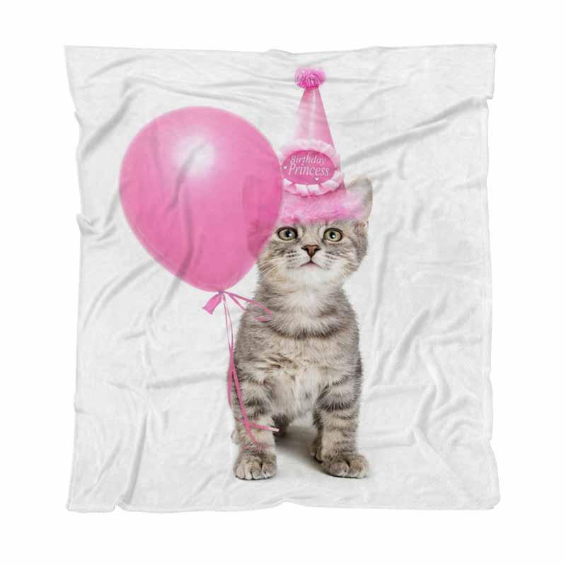 Atma Battaniye Süper Yumuşak Battaniye, Pretty Pembe Doğum Hat, Çocuk Yetişkin Battaniye Klima Yorgan Aşınma Sevimli Kedicik