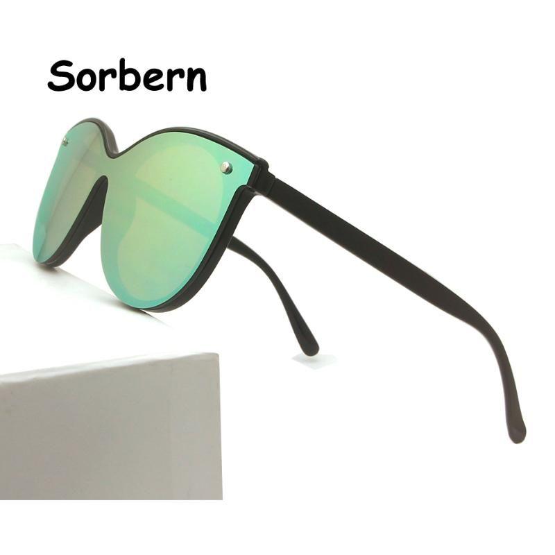Spiegel-Frauen-Sonnenbrille Art und Weise Dame-Weinlese-Marken-Entwerfer-Katzenaugen-Gläser Frau Schatten weiblich Uv400 Oculos