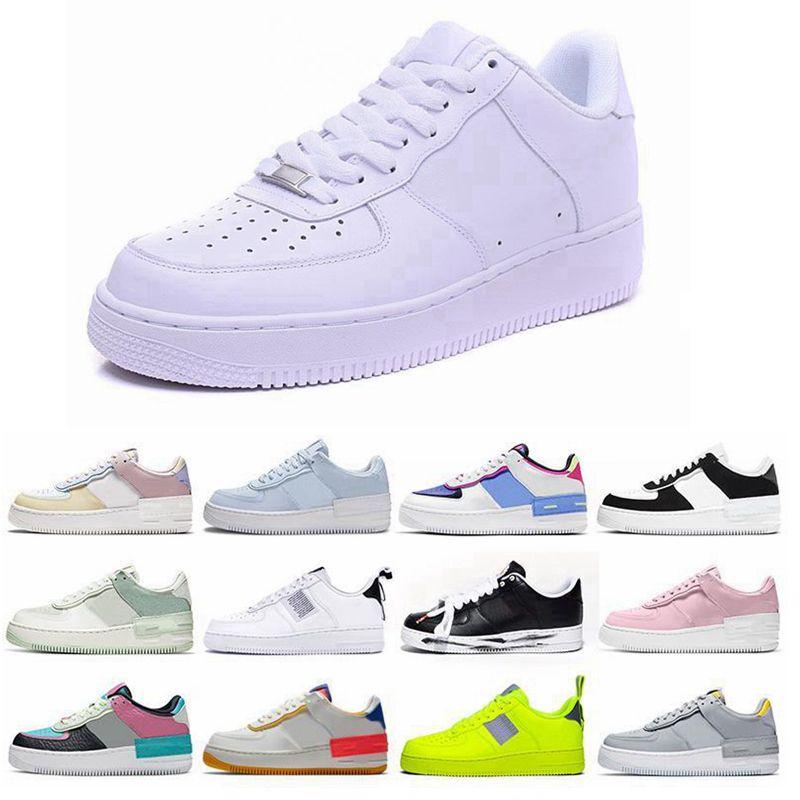 AF biri 1 Beyaz altın yıldız platformu Sandalet ayakkabılar Yardımcı kaliteli Klasik erkekler kadınlar Unisex düşük Casual ayakkabılar mens womens sinek