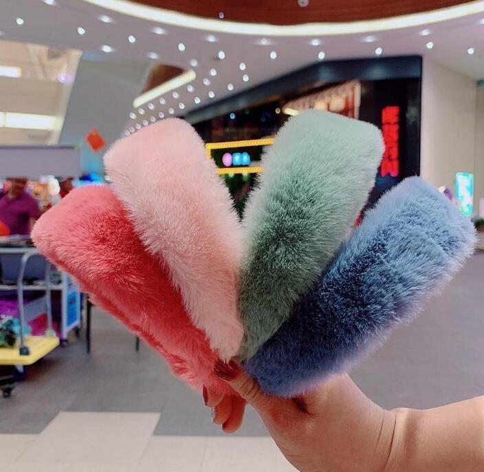 NUEVA joyería elegante de las mujeres del conejo Fur Accesorios Bandas Las vendas Hairbands de pelo de la vendimia del pelo del partido de Navidad de invierno diadema Epacket regalo