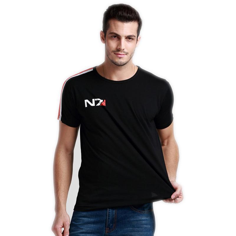 N7 Mass Effect 3 T Shirt Men Systems Alliance Военного Emblem игра Tee футболка хлопок Мужчина Бесплатная доставка Оптовые Y19060601