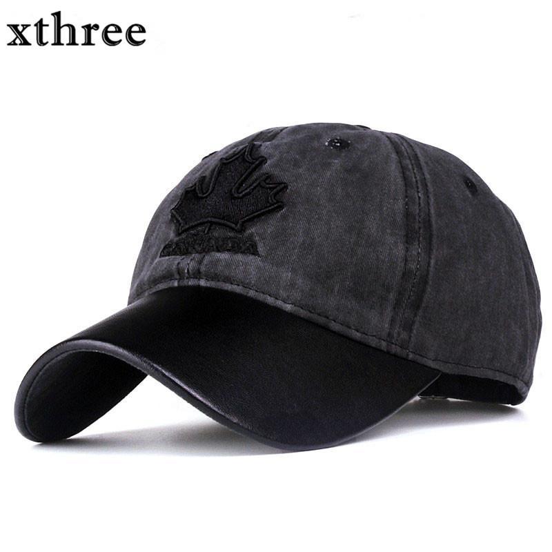 남성 Xthree 여성 야구 모자 캐나다 자수 편지 스냅 백 모자 CASQUETTE의 gorras 캡