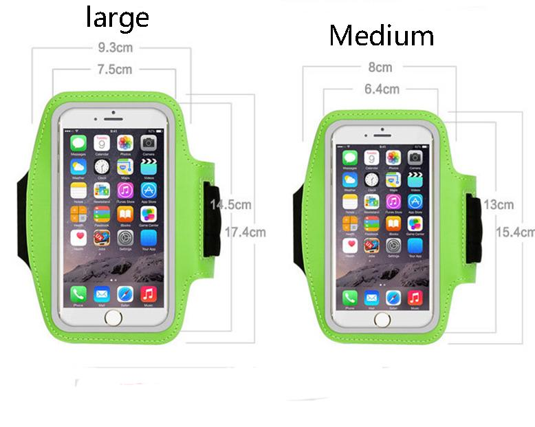 For iPhone6 plus Samsung s10 Waterproof Sports Running Armband Case Workout Armband bag Pouch Cellphone case Arm Bag with OPP Bag