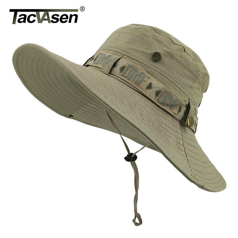 TACVASEN Army Men Tactical Sniper Hats Sun Boonie Hat Summer Sun Protection Cap Men's Fish Hunt Hats Caps TD-YWYG-001
