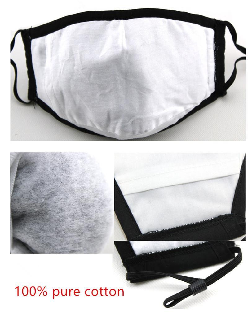 Fumaça máscaras ajustáveis cara preta Anti-pó e reutilizável Algodão Mouth máscara de proteção com um filtro para 10pcs homem mulheres