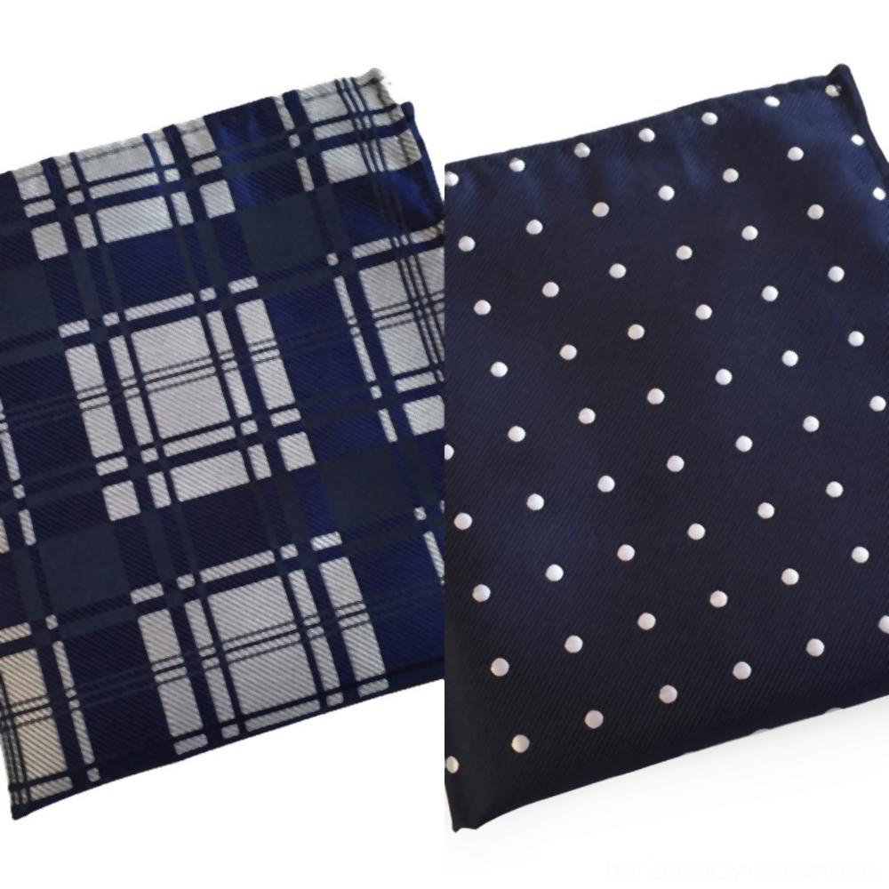G9h7p cm pañuelo a cuadros de negocios bufandas traje de algodón ocasional del bolsillo hombres de las mujeres patrón de Mouchoir plaza raya pañuelos Moda Hombre