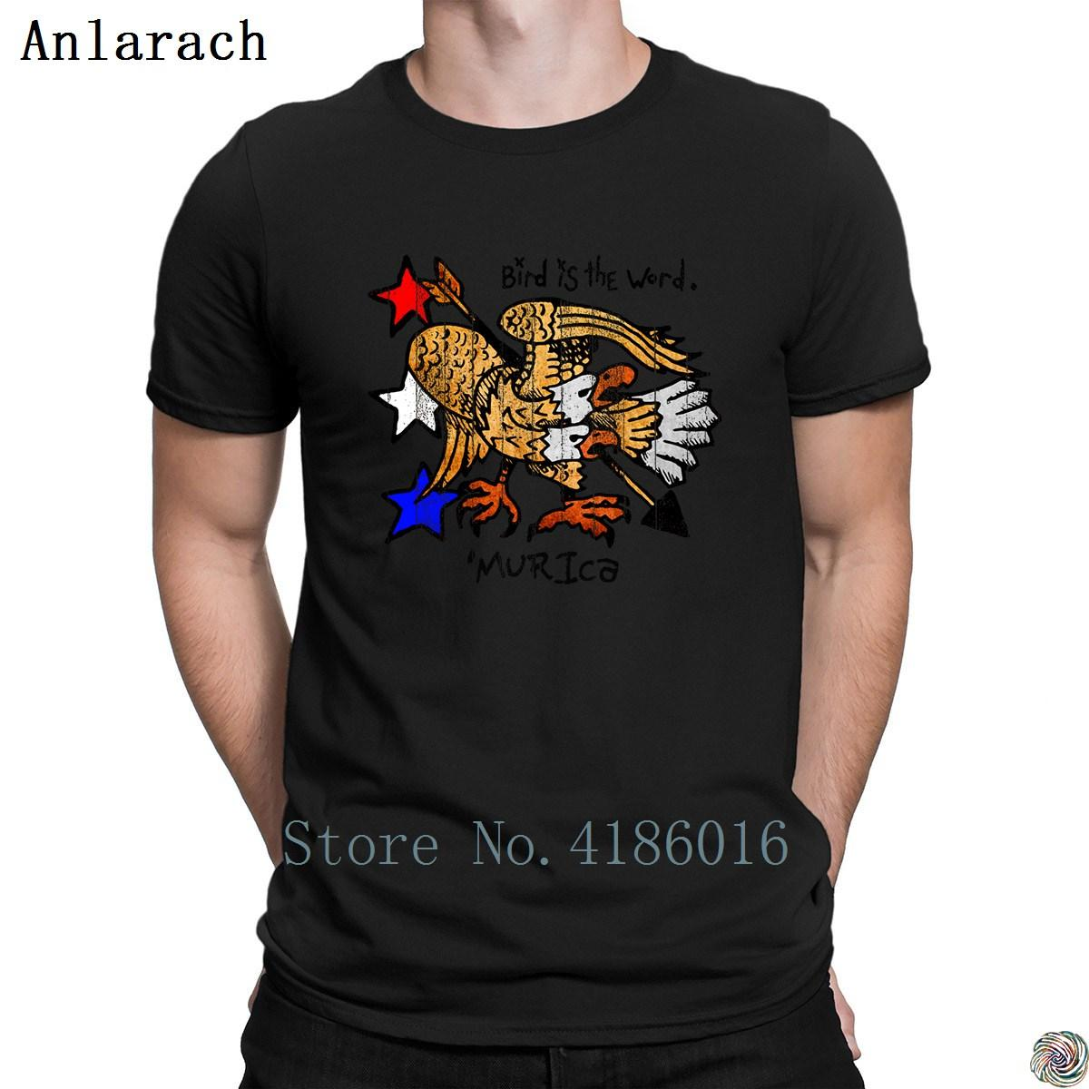 Bird is the word t-shirts fitted Design Tee tops Vintage t shirt for men Euro Size S-3xl homme 2018 Classical