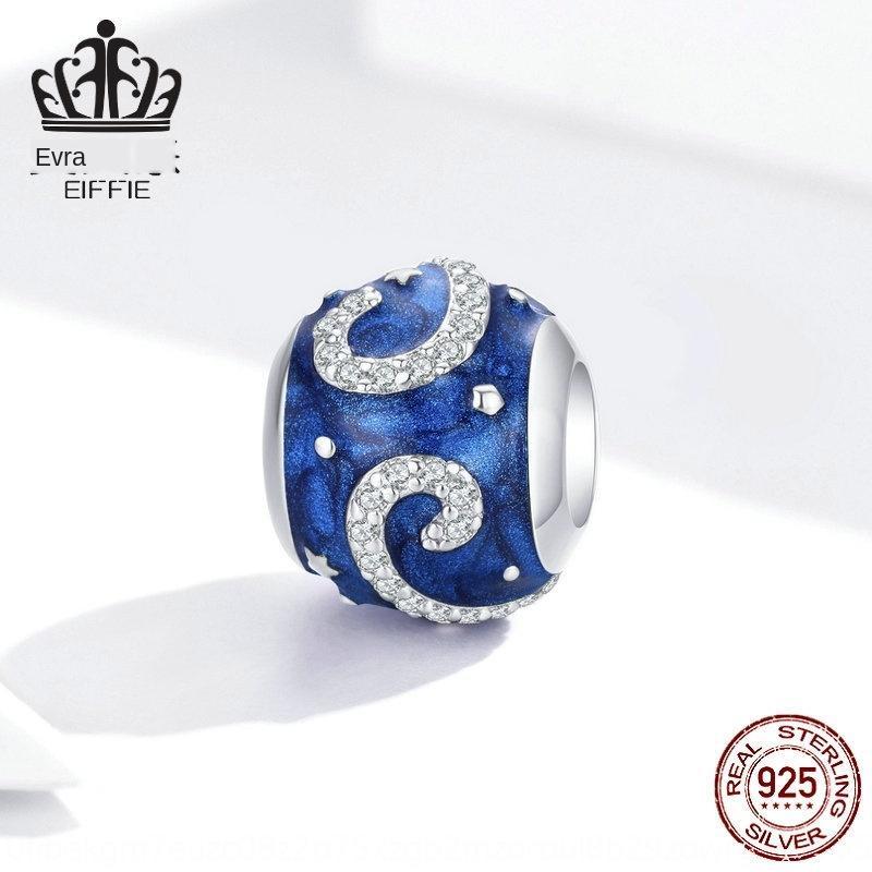 QbrZj Sterling Silver Star perline accessori bracciale fai da te slivercharm moda s925 perline fai da te perle rotonde