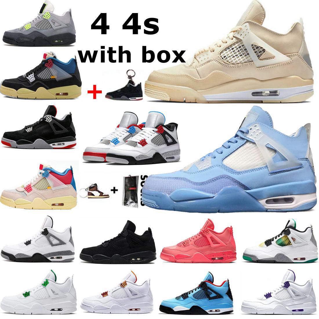 New Nike air jordan 4 4s retro White Sail What The Chaussures Hommes Nouveau Noir Blanc Rouge Tns TN plus Chaussures Ultra Sports Cheap TN Requin Fashion Sneakers Casual