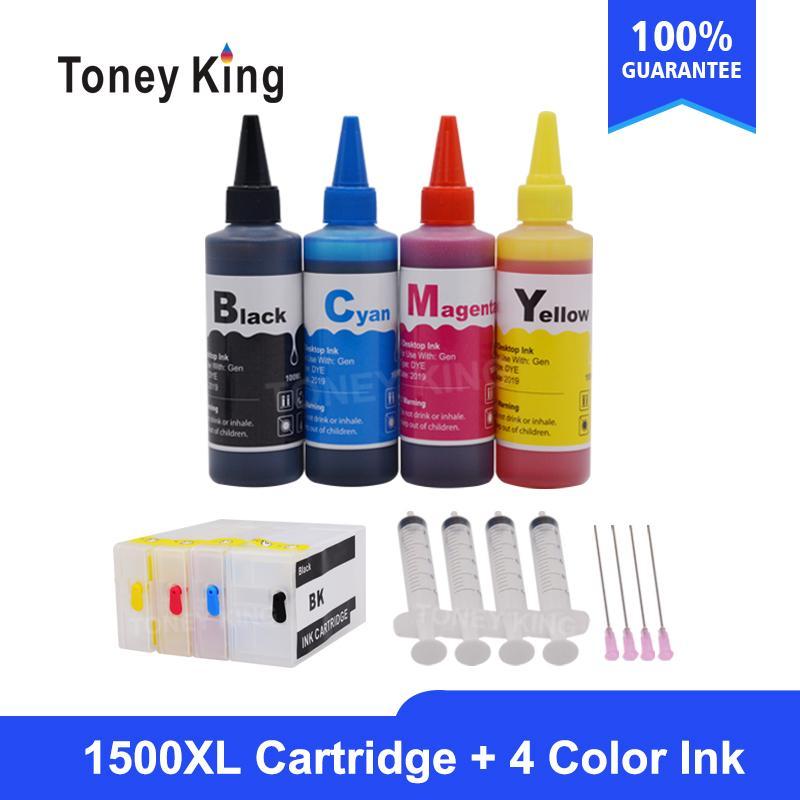 Toney Roi nouvelle bouteille d'encre Dye + PGI1500 XL Imprimante Cartouche d'encre Canon PGI1500 maxify MB2050 MB2350 MB2750 avec 4 couleurs