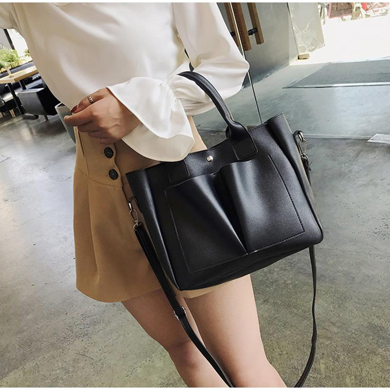 Lady сумки из мягкой кожи сумка простой ноутбук сумка женщины плечо Большие повседневные сумки женские Crossbody сумки сотовый телефон Рука