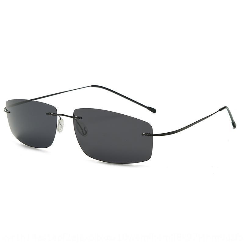 QZnSd Carré lumière de titane élastique sans cadre ultra-léger de lunettes polarisées de conduite des hommes de soleil de lunettes de soleil polarisées