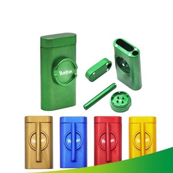 Grinder Grind cas Pinch Hitter Container Pirogue Poker Rod Tobacco Débarassas + Grinder + Pipes Grinders Accessoires WY841