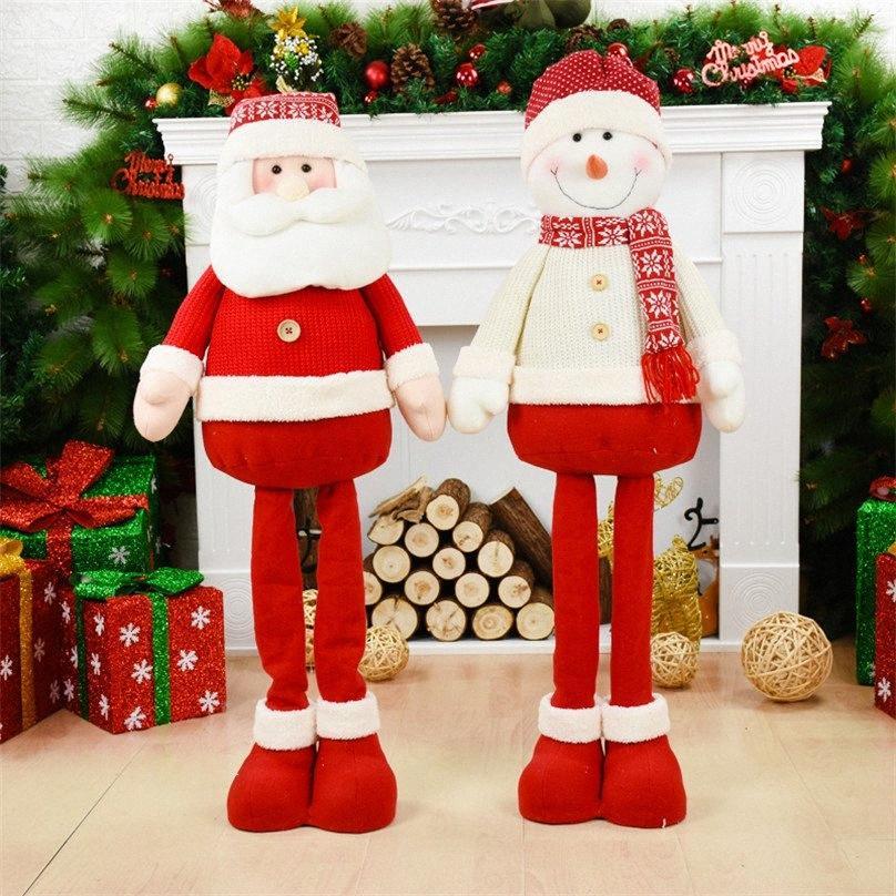 Большой размер 100см Выдвижной Санта-Клаус снеговика Elk куклы украшения рождественской елки Arbol De Navidad Enfeites De Natal Xmas K3jO #