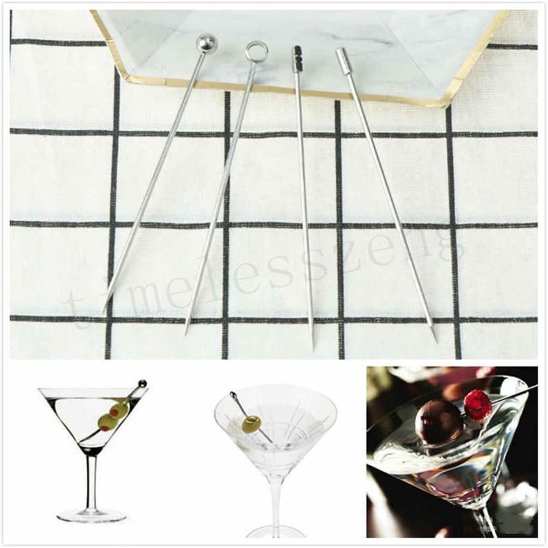 Творческий коктейль украшения Вино Needle напиток Пика Вход Напитки Перемешивание Rod Поворотная ручка Party Bar аксессуары Коктейль Фруктовый Needle