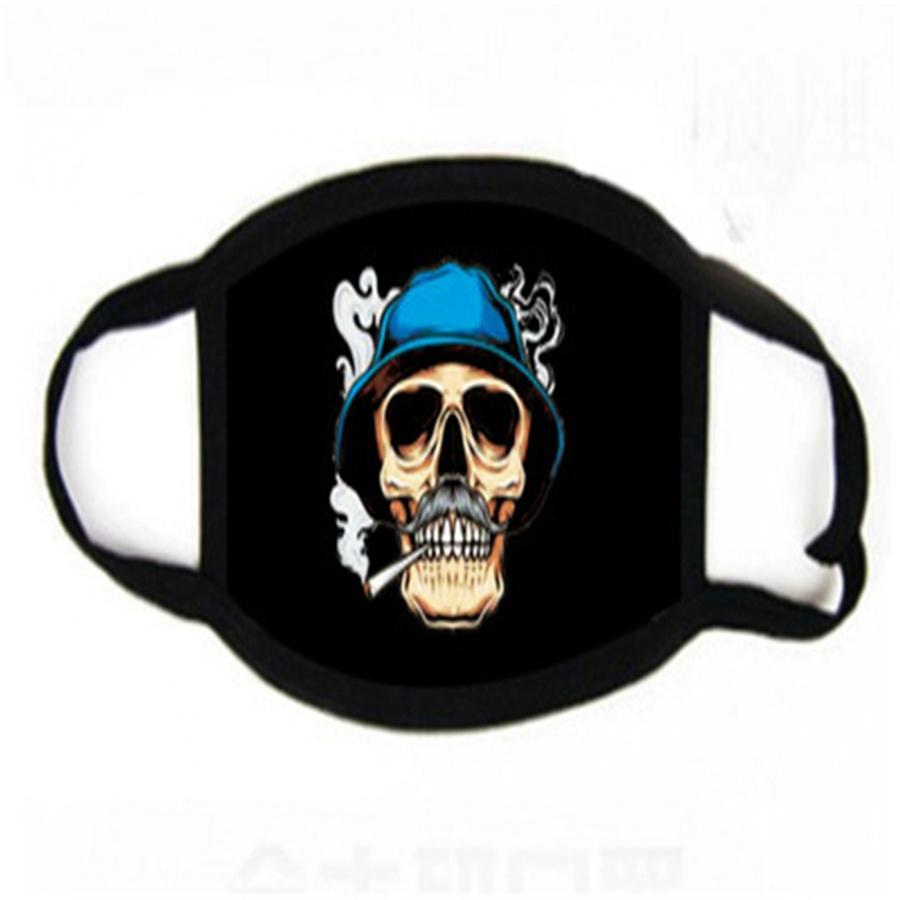 Wasale Fa Maske Wit rstelleneineskomplett Vae Anti-Staub-Wit 2 Filter Schutz Fasion Fa Printing Masken freies Nippen # 370