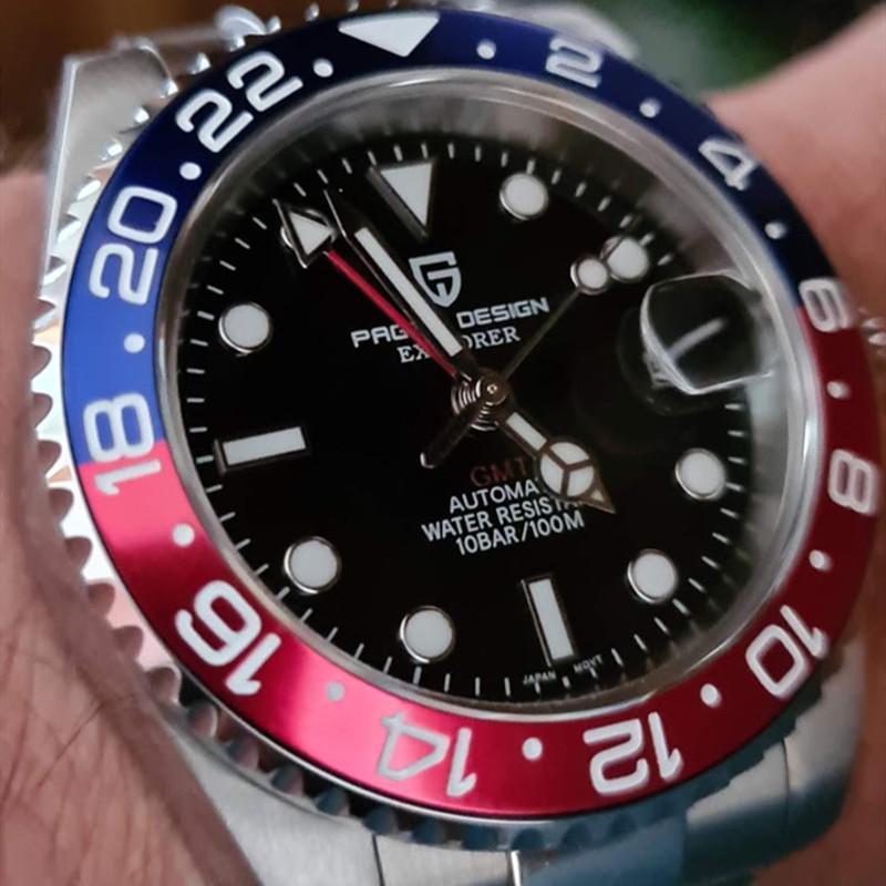 Reloj Hombre PAGANI CONCEPTION Marque mécanique Montre-bracelet étanche Sport Hommes Montres de luxe Sapphire Montre GMT Relogio Masculino