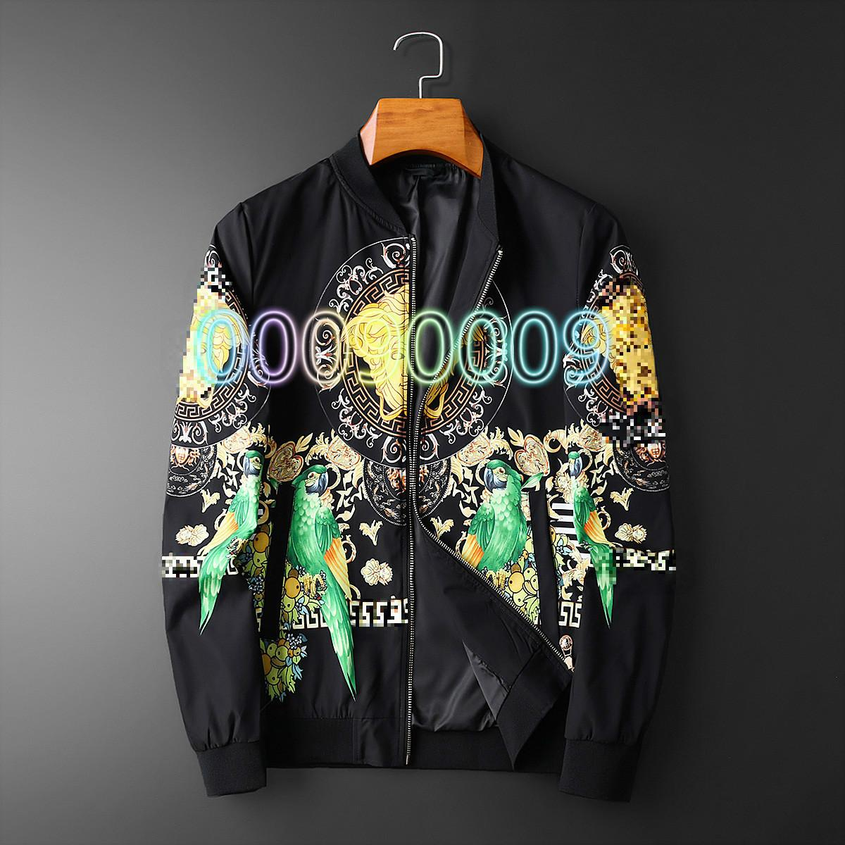 2020 Spring and Autumn New Men's Jacket Korean Long Sleeve Stand Collar Jacket Fashion High-end Sports Casual Men's Trend 001001