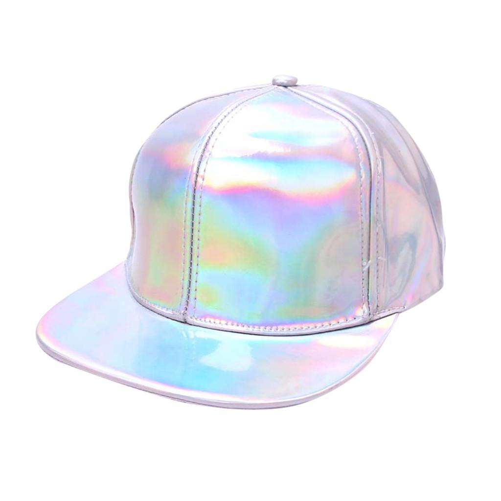 Nouveau unisexe Hip Hop Cap mode de baseball solide Fluorescence plat Chapeau Printemps Automne déborda Les sports occasionnels Caps en été #zer