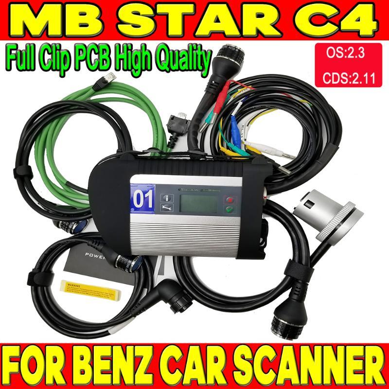 Newest High Quality MB Star C4 interface SD Connect Star Diagnosis DAS System Compact 4 Multiplexer For Bens Diag Tool