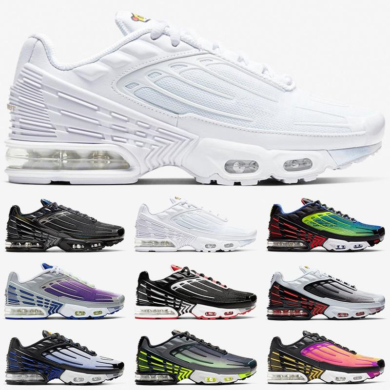 Tn Plus 3 men women Running Shoes Tuned Ultra trainers Triple White Black Sunset Neon Hyper Blue Violet mens sports Sneakers Size 36-45