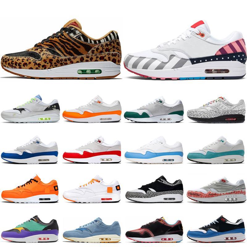 Nike air max 1 shoes الأزياء الكلاسيكية 1 الرجال النساء الاحذية الذكرى الملكي تصحيح الذرية تيل بارا بورتوريكو رجال الرياضة أحذية رياضية قصر chaussures