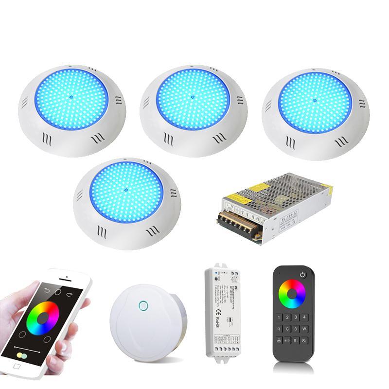 LED بركة أضواء واي فاي 36W RGBWW RGBCW 2.4G كيت الراتنج مليئة FOCO مع الموقت قتامة التطبيقات حمامات السباحة التحكم مصباح