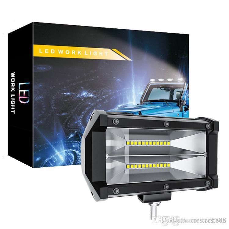 LED ضوء العمل - 72W الفيضانات LED ضوء بار لجرار الطرق الوعرة 4WD شاحنة ATV UTV SUV لتعليم قيادة السيارات مصباح النهار الجري الخفيف