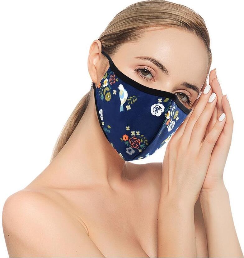 Winddicht Anti-Staub-Anti-Schleier PM2.5 Baumwolle Masken Sonnenschutz Printing Gesichtsschutz Erwachsene Wiederverwendbare Waschbar Maske Dhc94