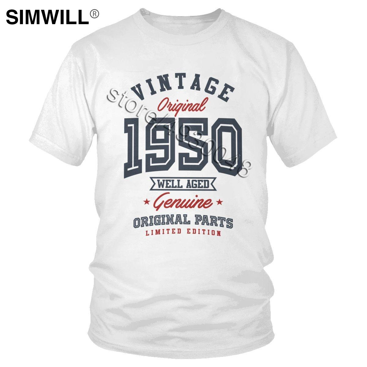 Uomo regalo per classe 1950 maniche corte T-shirt unico Padre regalo di compleanno maglietta del cotone della maglietta di estate del marchio di abbigliamento Top