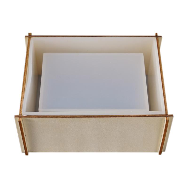 Transparente Silikonform Getrocknete Blumenharz Dekorative Handwerk DIY Lagerung Tissue Box Form Epoxidharzformen für Schmuck